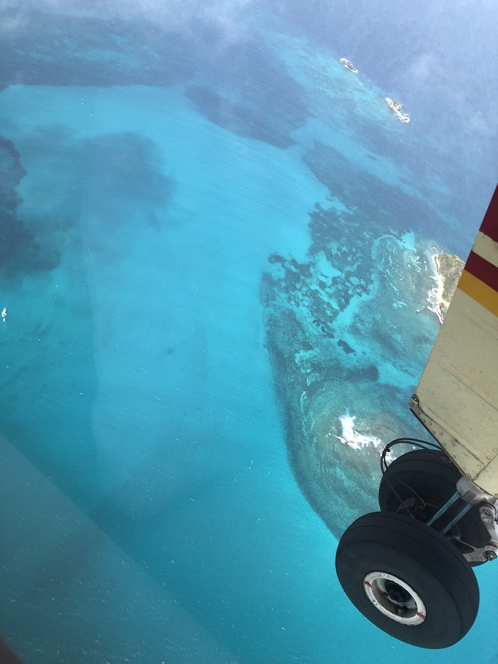 retour en avion des Grenadines