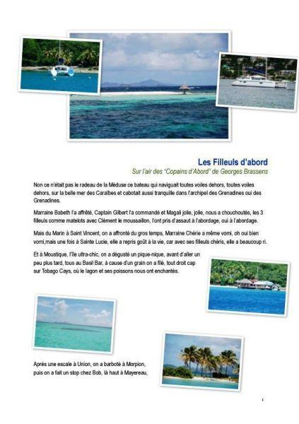 Croisiere en voilier aux Antilles par Les Filleuls